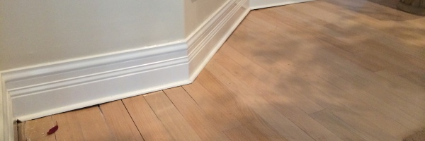 Elegant Water Damaged Wood Floor Planks